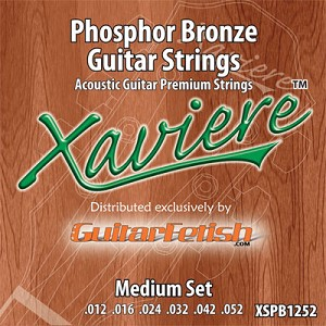 Case of 12 Sets- Xaviere Phosphor Bronze Acoustic Strings Medium Gauge