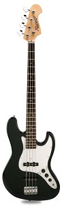 JB Bass Alder Body Maple Neck Gloss Black Rosewood Fingerboard - Blem